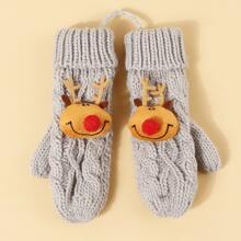Kinder Strick Handschuhe mit Weihnachten Hirsch Dekor