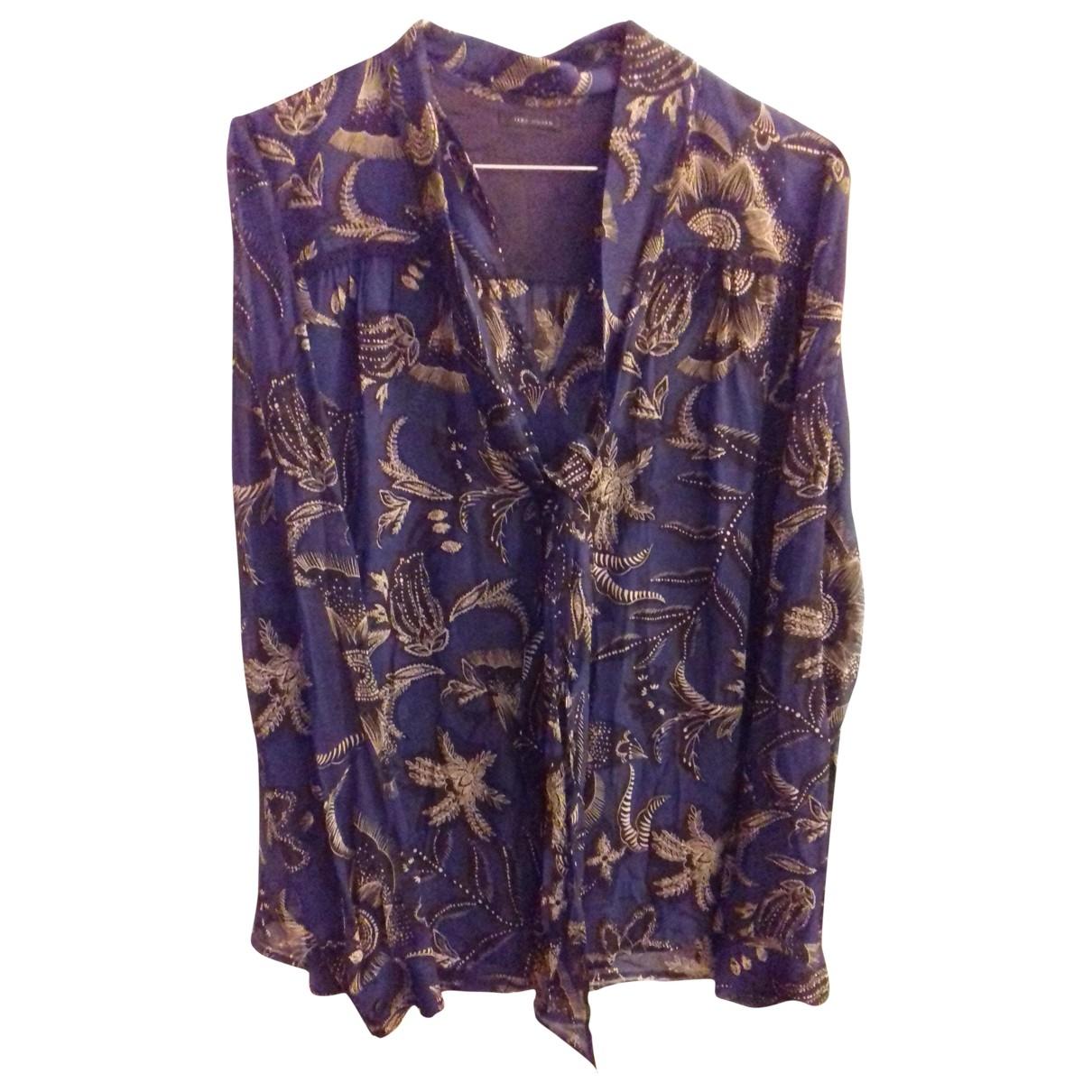 Ikks \N Blue Cotton  top for Women 34 FR