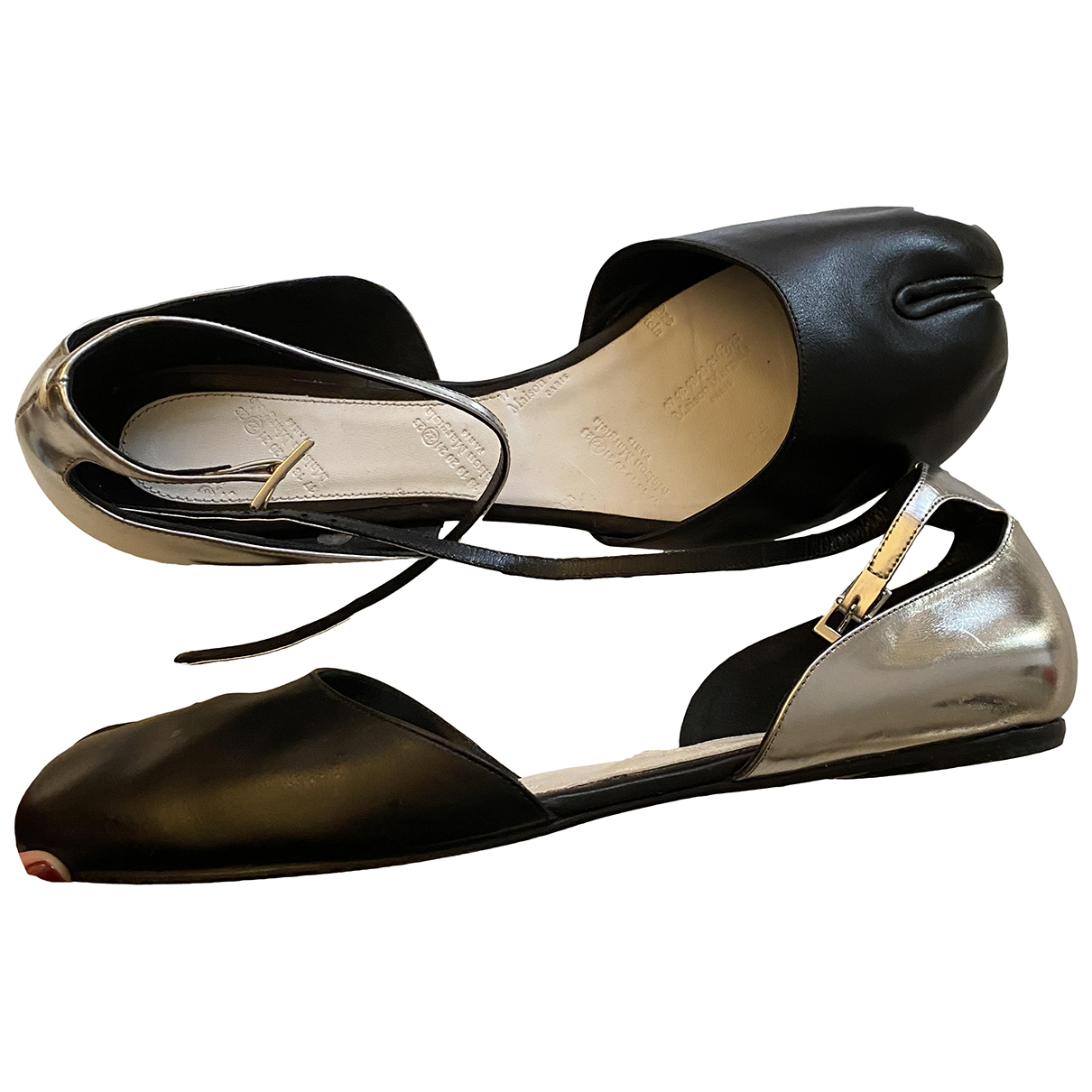 Maison Martin Margiela - Ballerines   pour femme en cuir - noir
