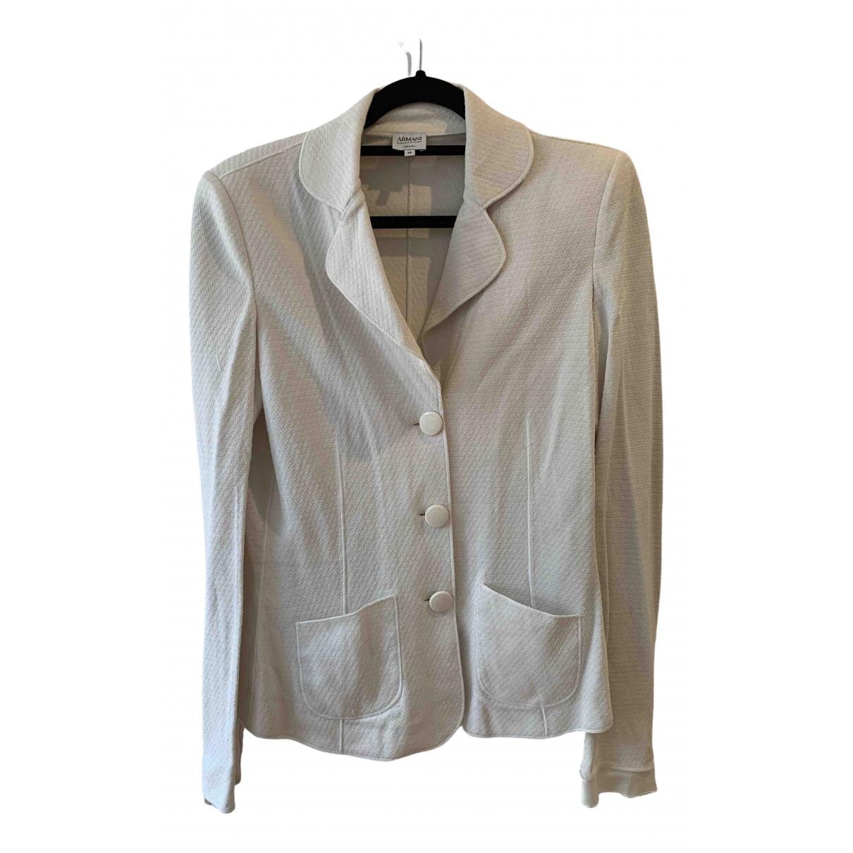 Armani Collezioni \N White Cotton jacket for Women 48 IT