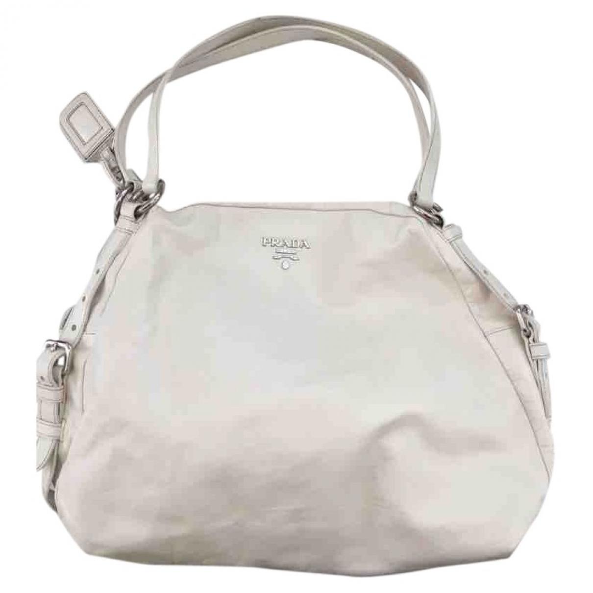 Prada \N White Leather handbag for Women \N