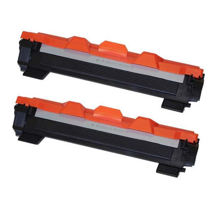 Compatible Brother TN1030 TN1060 Black Toner Cartridge 2 Pack - Economical Box