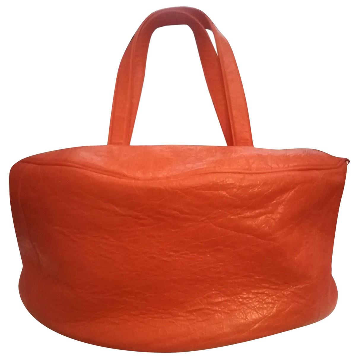 Balenciaga Air Hobo Kleinlederwaren in  Orange Leder