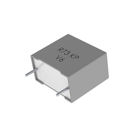KEMET 2.2nF Polypropylene Capacitor PP 1.6 kV dc, 450 V ac ±5% Tolerance Through Hole R73 Series (900)