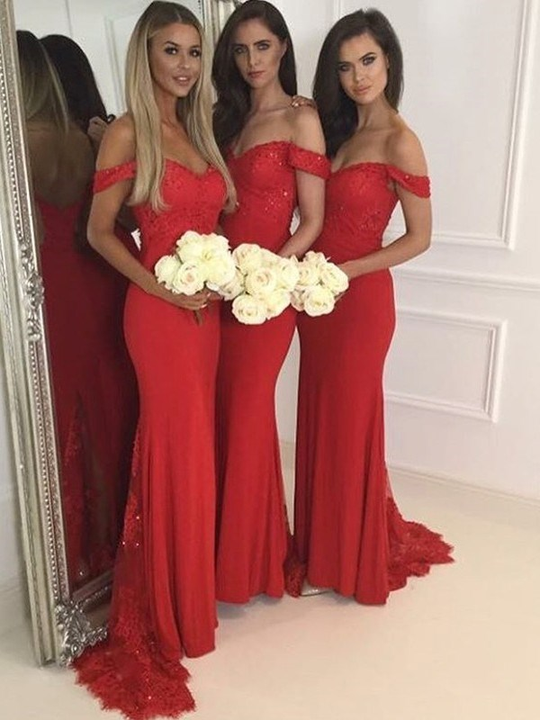Ericdress Off-The-Shoulder Bridesmaid Dress