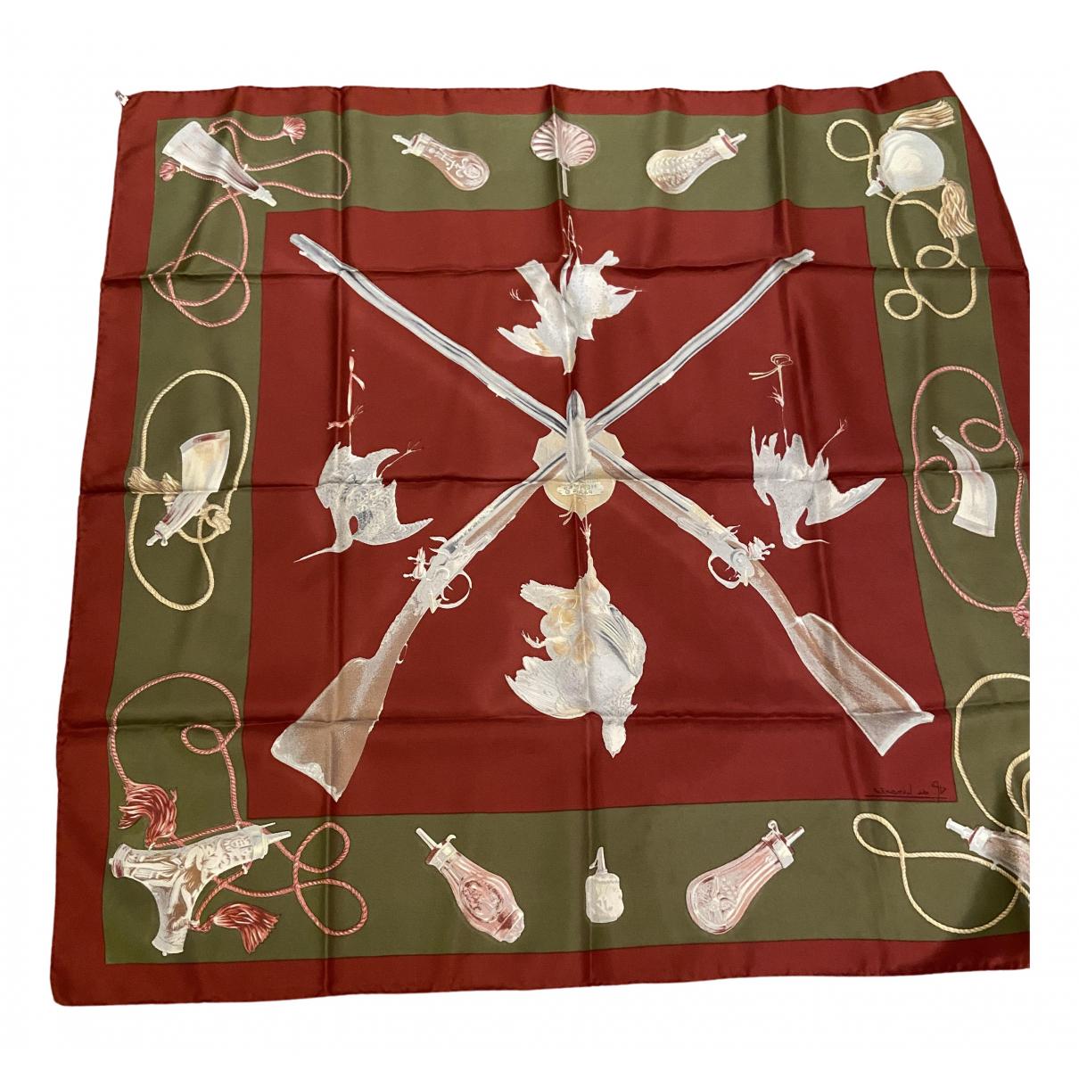 Hermès N Red Silk scarf for Women N