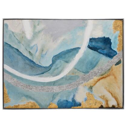 Tide Pool II Collection OL1537 Canvas by Patrick St. Germain  with Rectangle Shape  Both Ways Hanging Direction  Painted on Print and Canvas Material