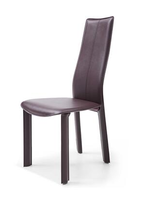 320731 Set of 4 Dining Chair Chocolate Hard Leather Matching