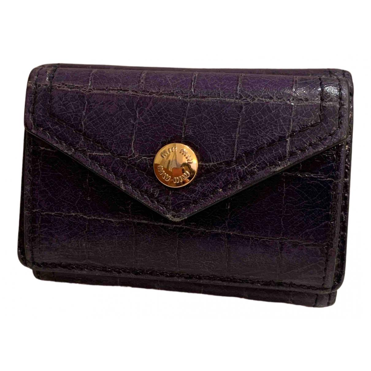 Miu Miu N Navy Leather Purses, wallet & cases for Women N