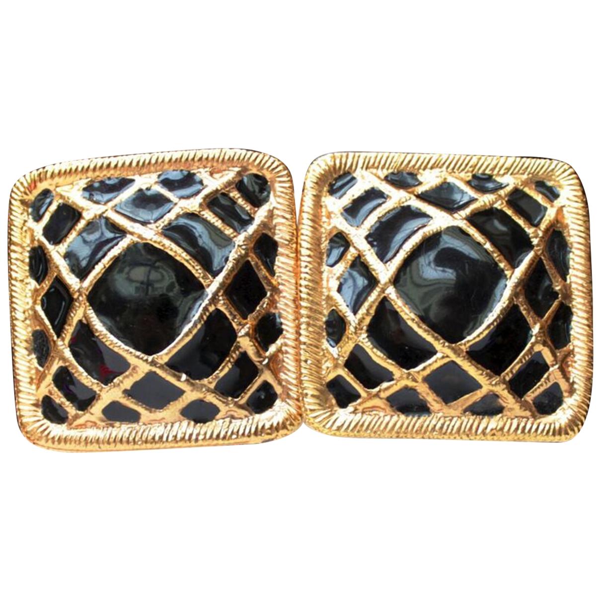 Rochas - Boucles doreilles   pour femme en metal - noir