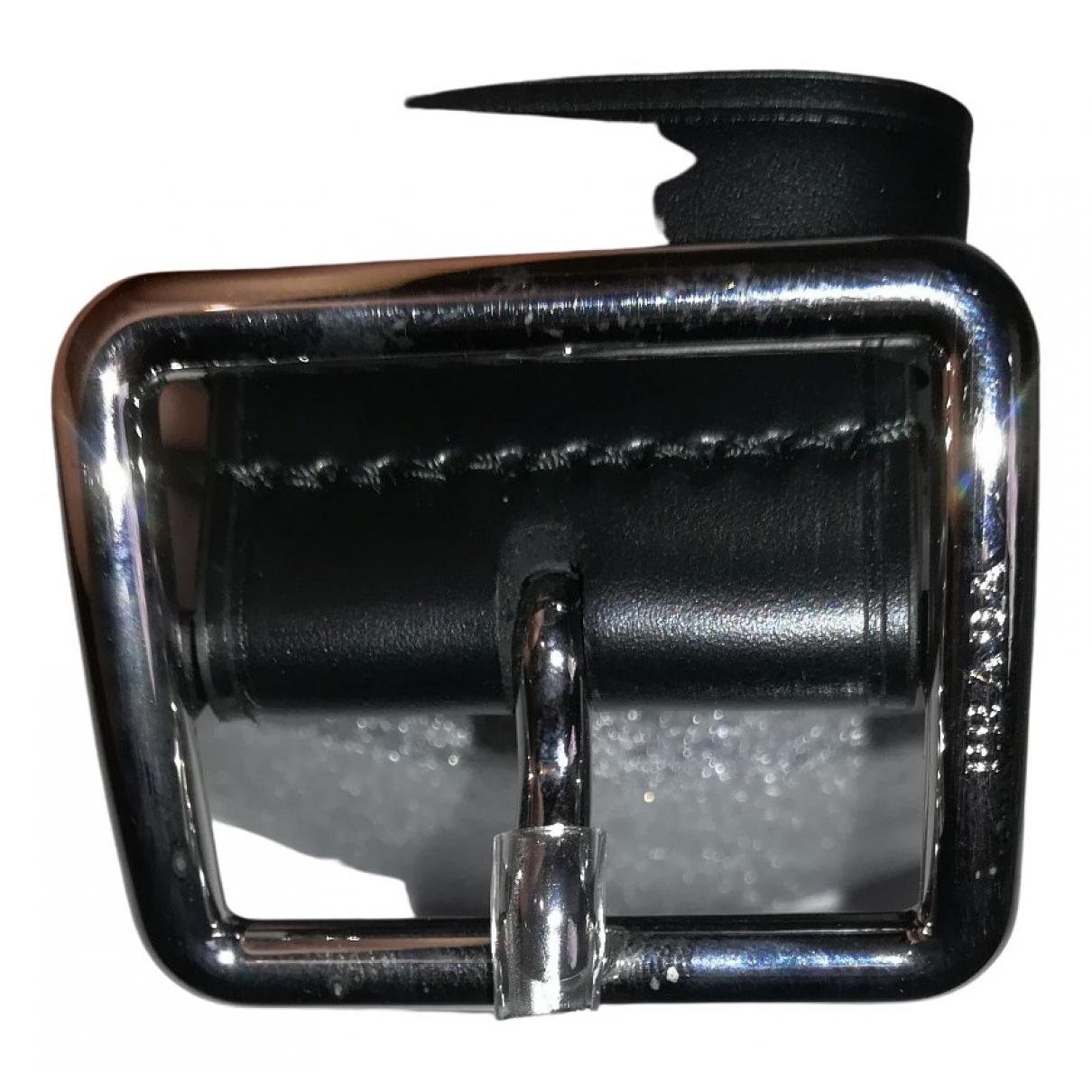 Prada \N Guertel in  Schwarz Leder