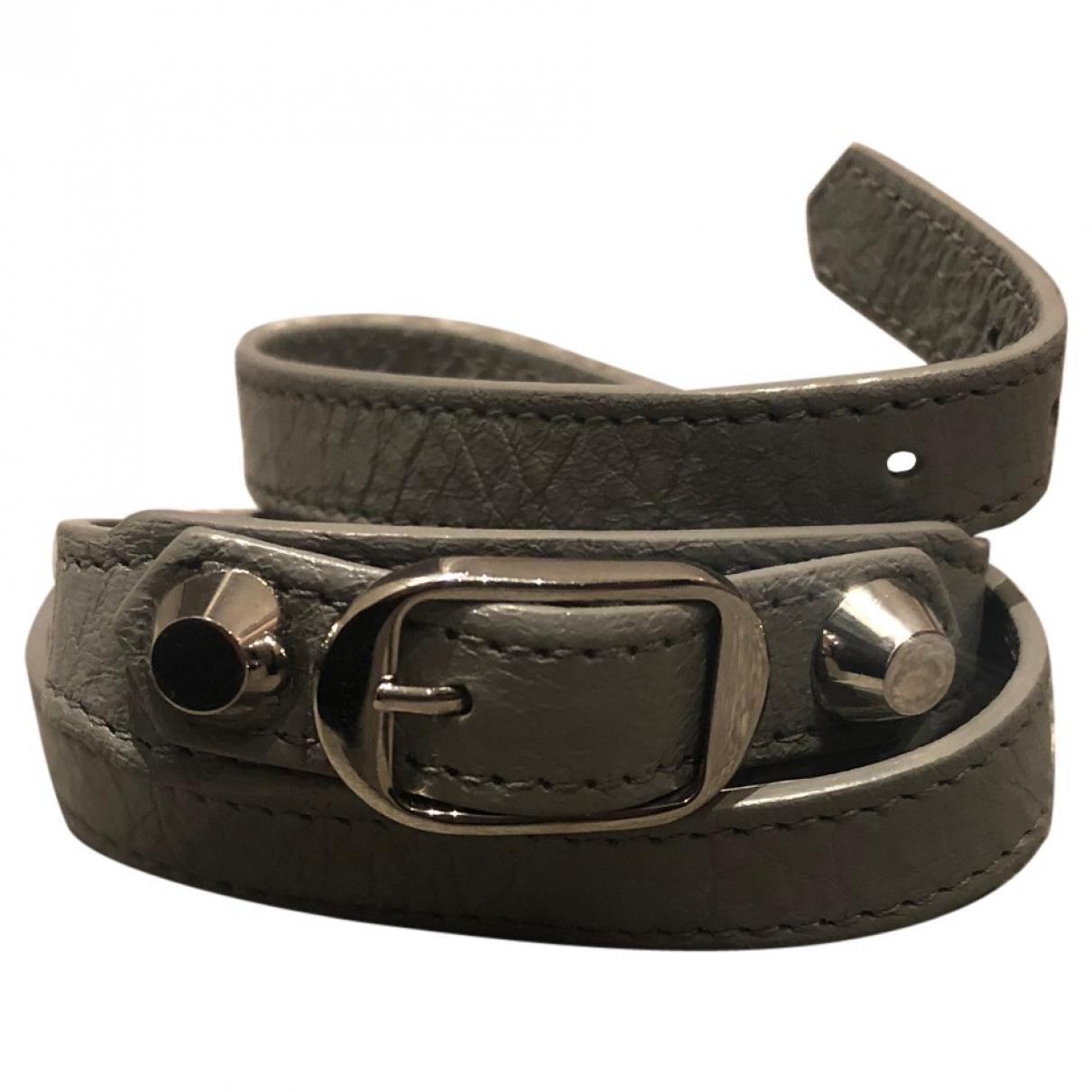 Balenciaga \N Armband in  Grau Leder