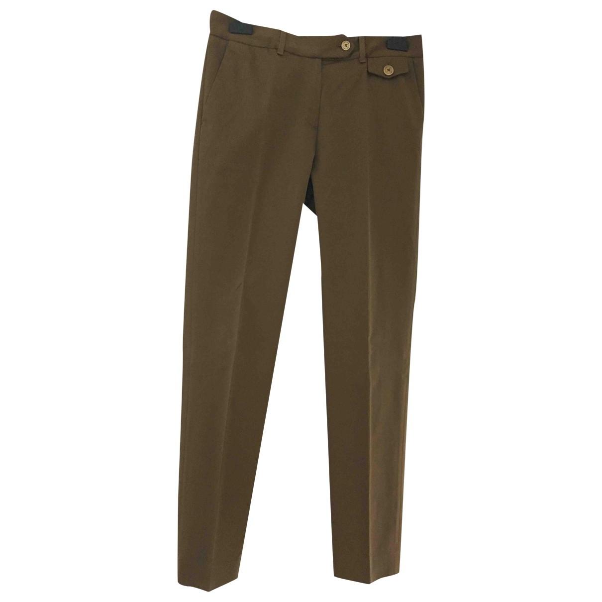 Massimo Dutti - Pantalon   pour femme en coton - marron