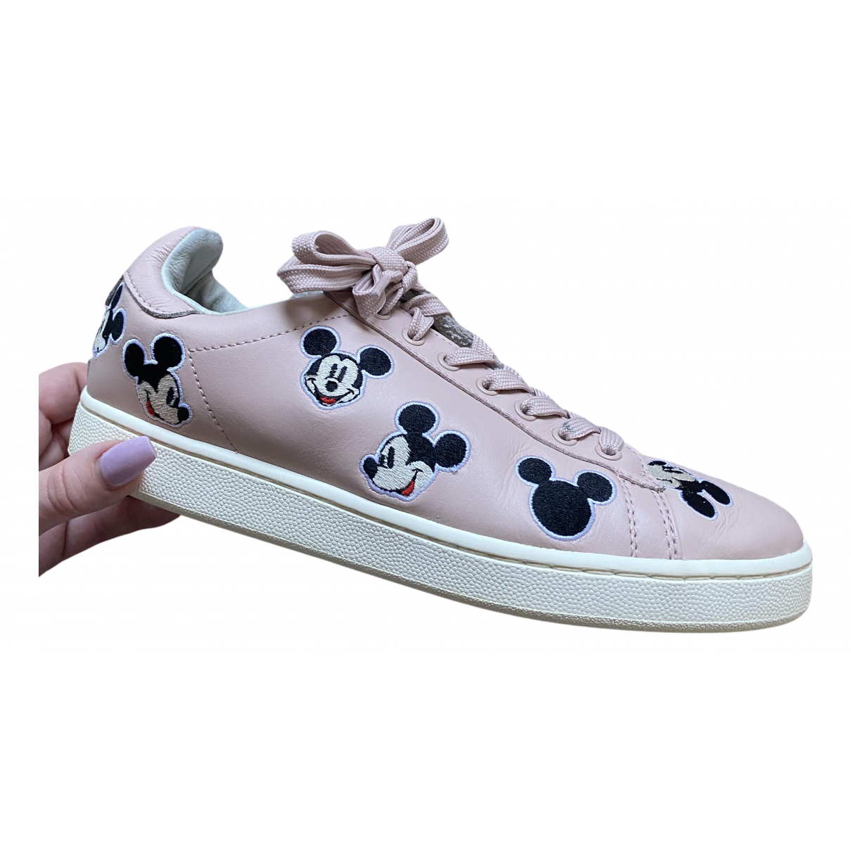 Moa Master Of Arts N Pink Leather Trainers for Women 7.5 UK