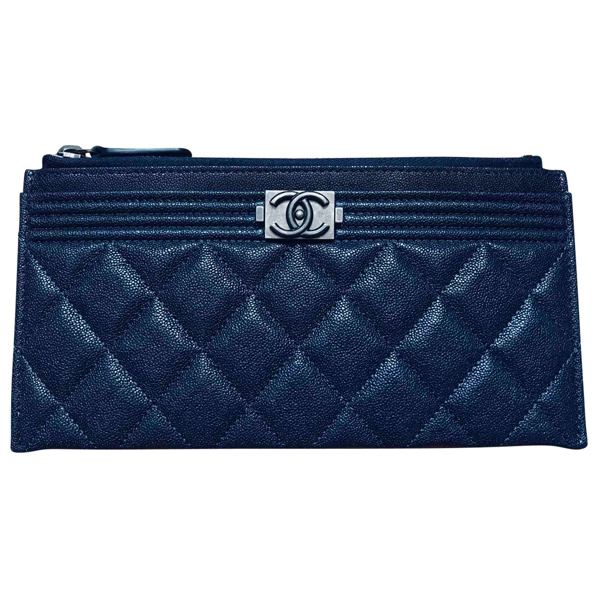 Chanel Boy Purple Leather wallet for Women \N