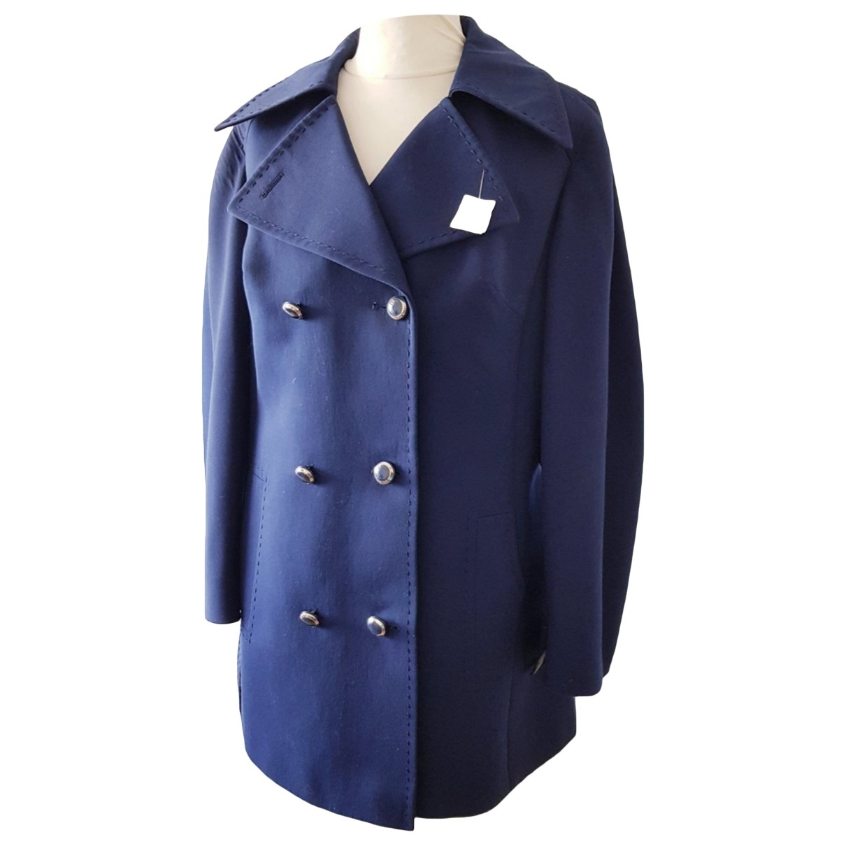 Non Signé / Unsigned \N Blue jacket for Women 48 FR