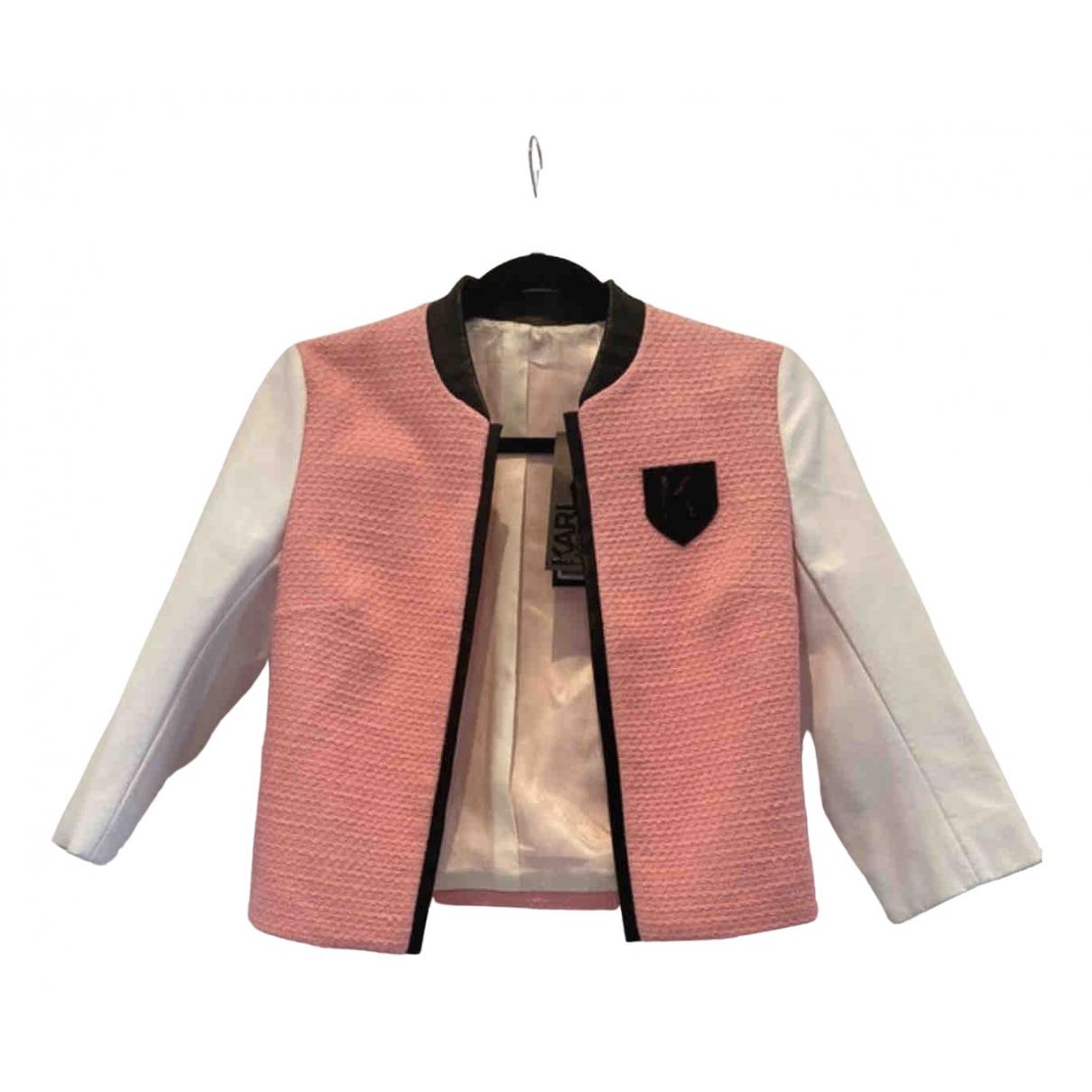 Karl Lagerfeld \N Pink Cotton jacket for Women 36 FR
