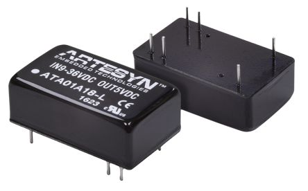 Artesyn Embedded Technologies ATA 6W Isolated DC-DC Converter Through Hole, Voltage in 9 → 36 V dc, Voltage out
