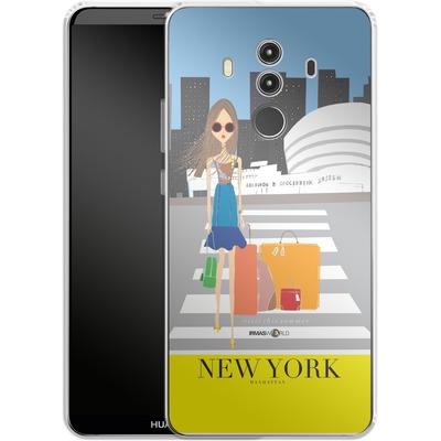 Huawei Mate 10 Pro Silikon Handyhuelle - NEW YORK TRAVEL POSTER von IRMA