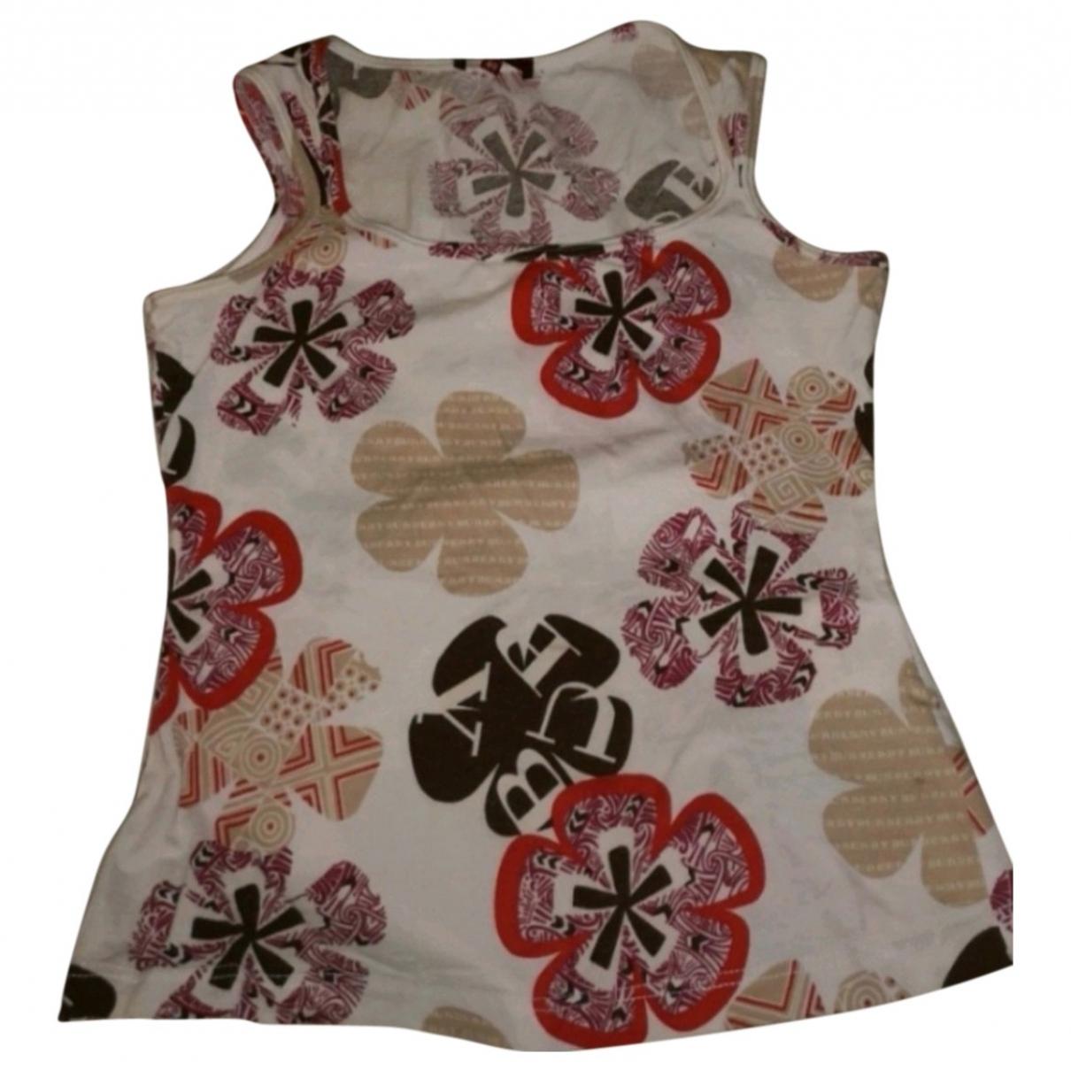 Burberry - Top   pour femme en coton - multicolore