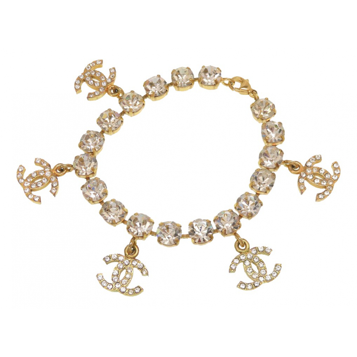 Chanel CC Armband in  Gold Metall