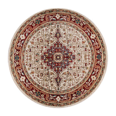 Momeni Lenox 2 Round Indoor Rugs, One Size , Red