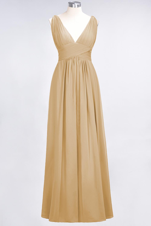 BMbridal Elegant V-Neck Burgundy Chiffon Affordable Bridesmaid Dress with Ruffle