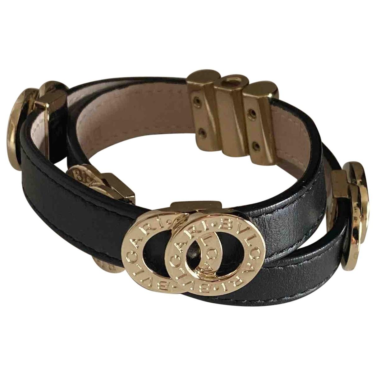 Bvlgari - Bracelet   pour femme en cuir - noir