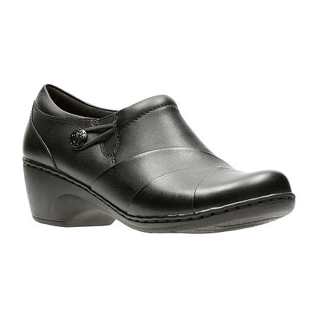 Clarks Channing Ann Leather Womens Casual Shoes, 9 Medium, Black