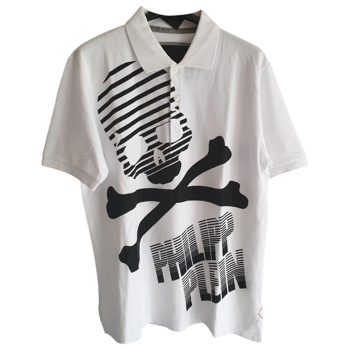 Philipp Plein \N White Cotton Polo shirts for Men XXL International