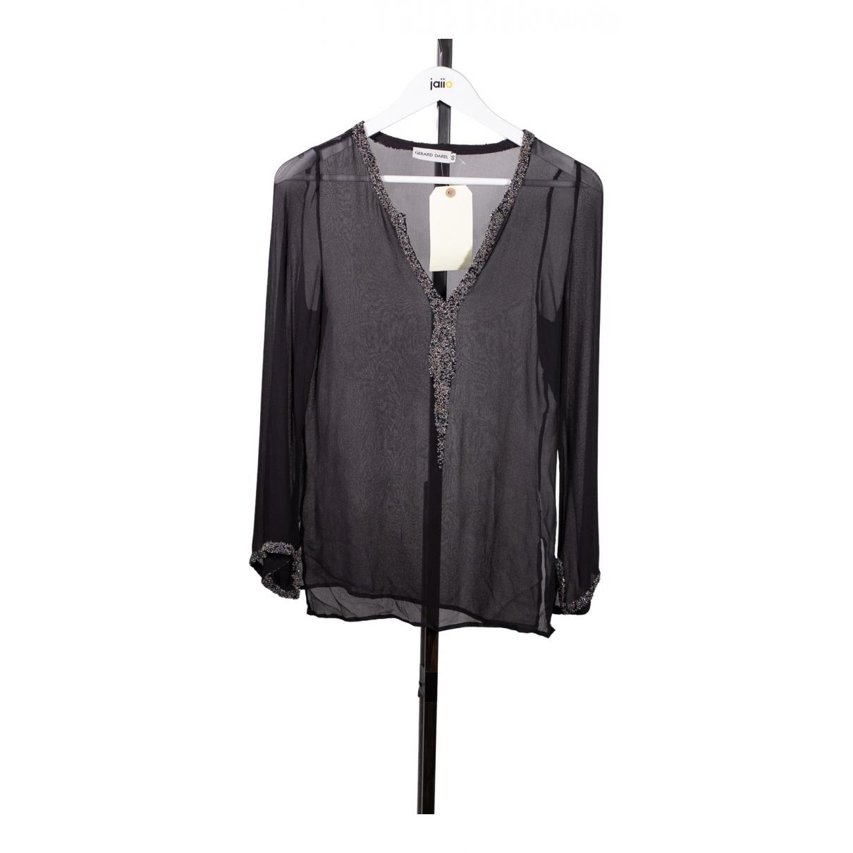 Gerard Darel - Top   pour femme en soie - noir