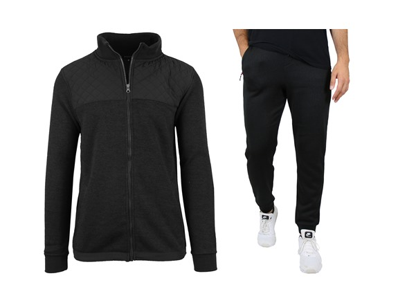 Mens Fleece Lined Quilted Sweater&jogger