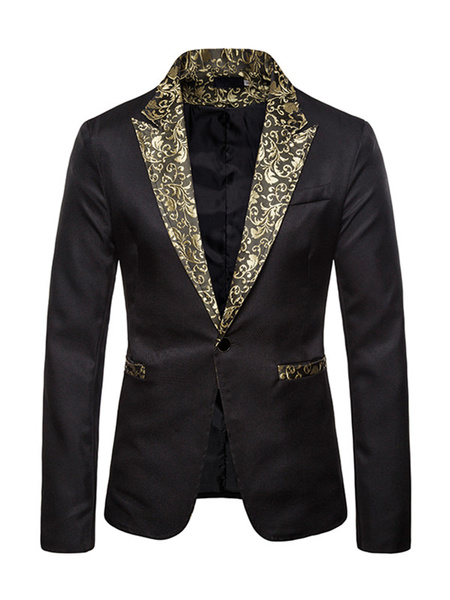 Milanoo Blazers Jackets Patchwork Men Casual Suits