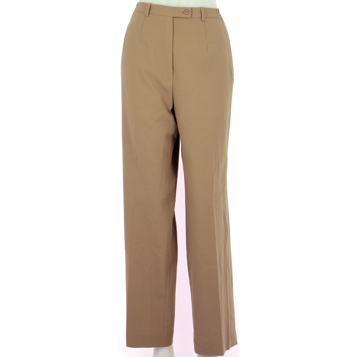 Pantalones en Poliester Beige Balenciaga