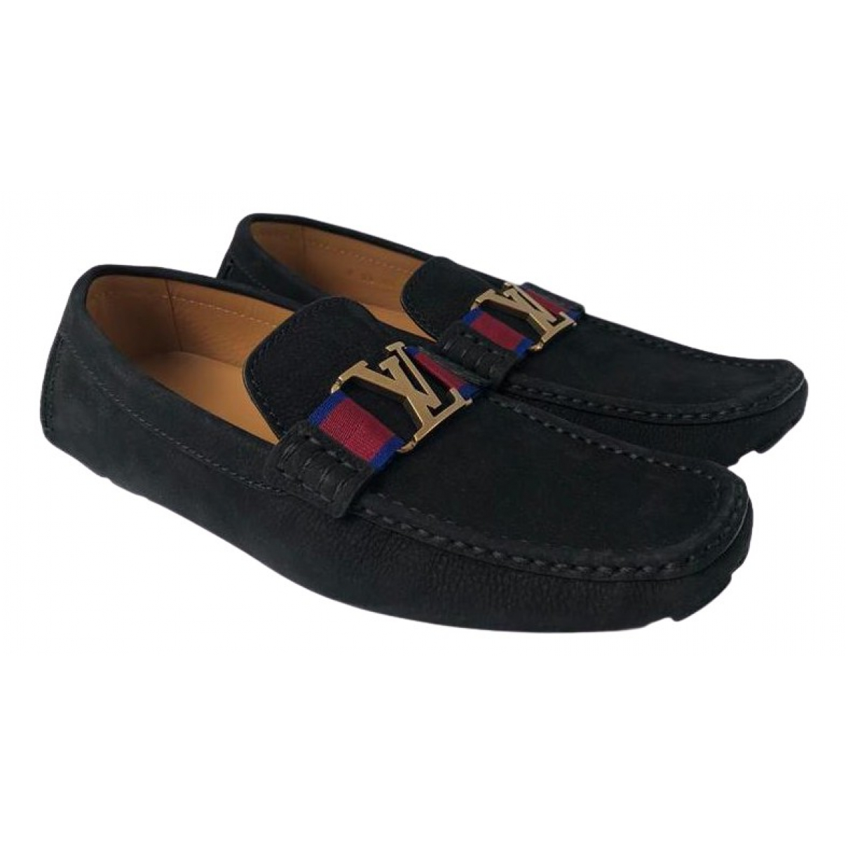 Louis Vuitton \N Black Leather Flats for Men 8.5 UK