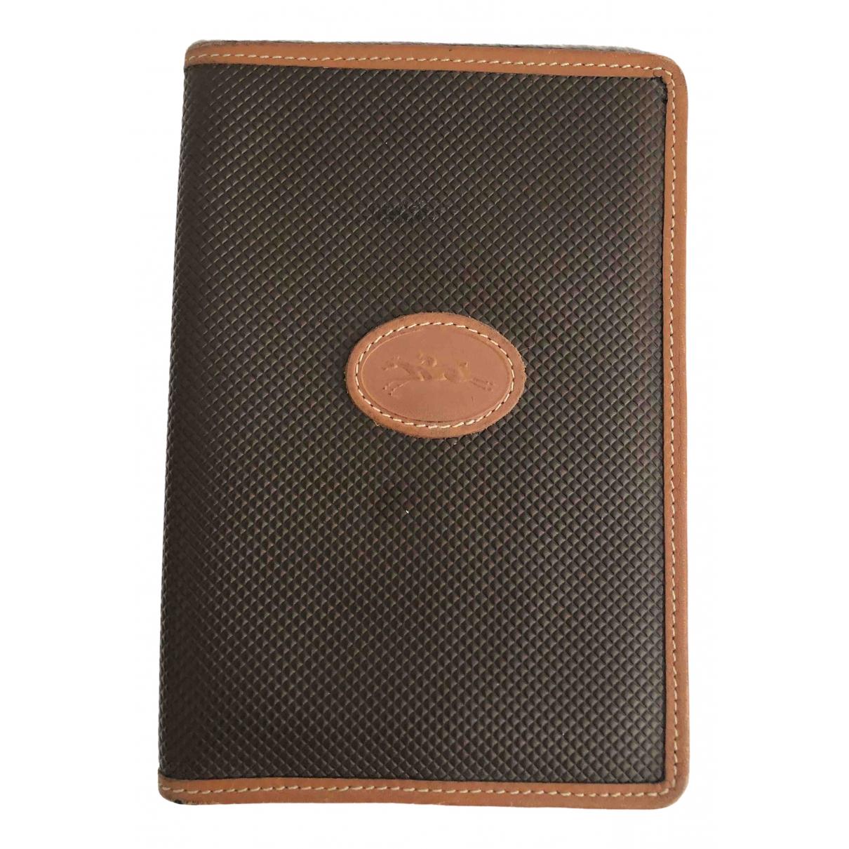 Longchamp - Petite maroquinerie   pour homme en cuir - marron