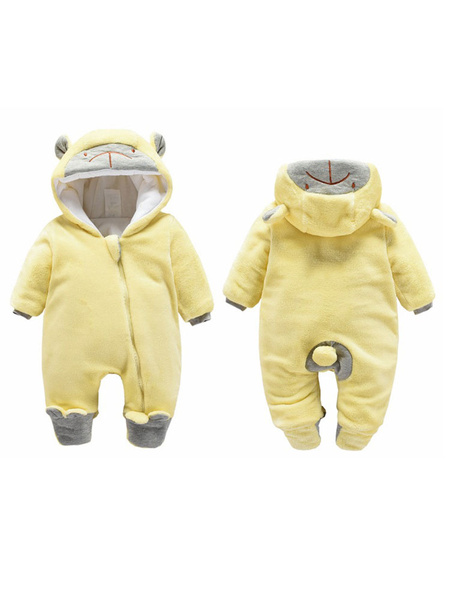 Milanoo Onesie Pajamas Kigurumi Monkey Flannel Jumpsuit For Toddler