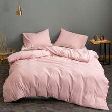 Set ropa de cama unicolor sin relleno