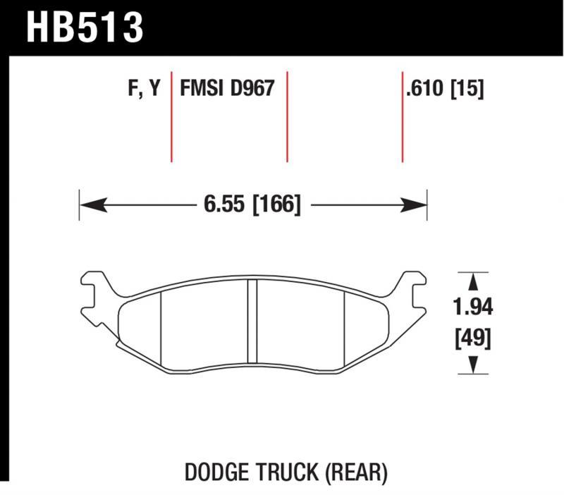 Hawk Performance HB513F.610 Disc Brake Pad Rear