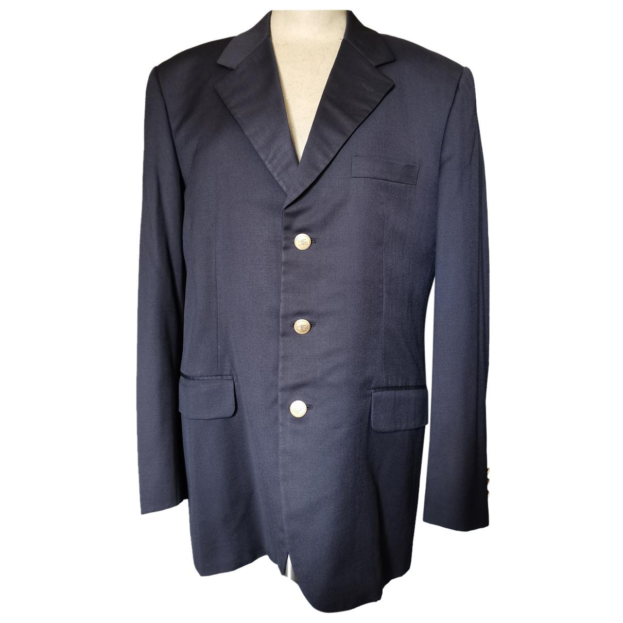 Burberry N Blue Wool jacket  for Men 50 IT