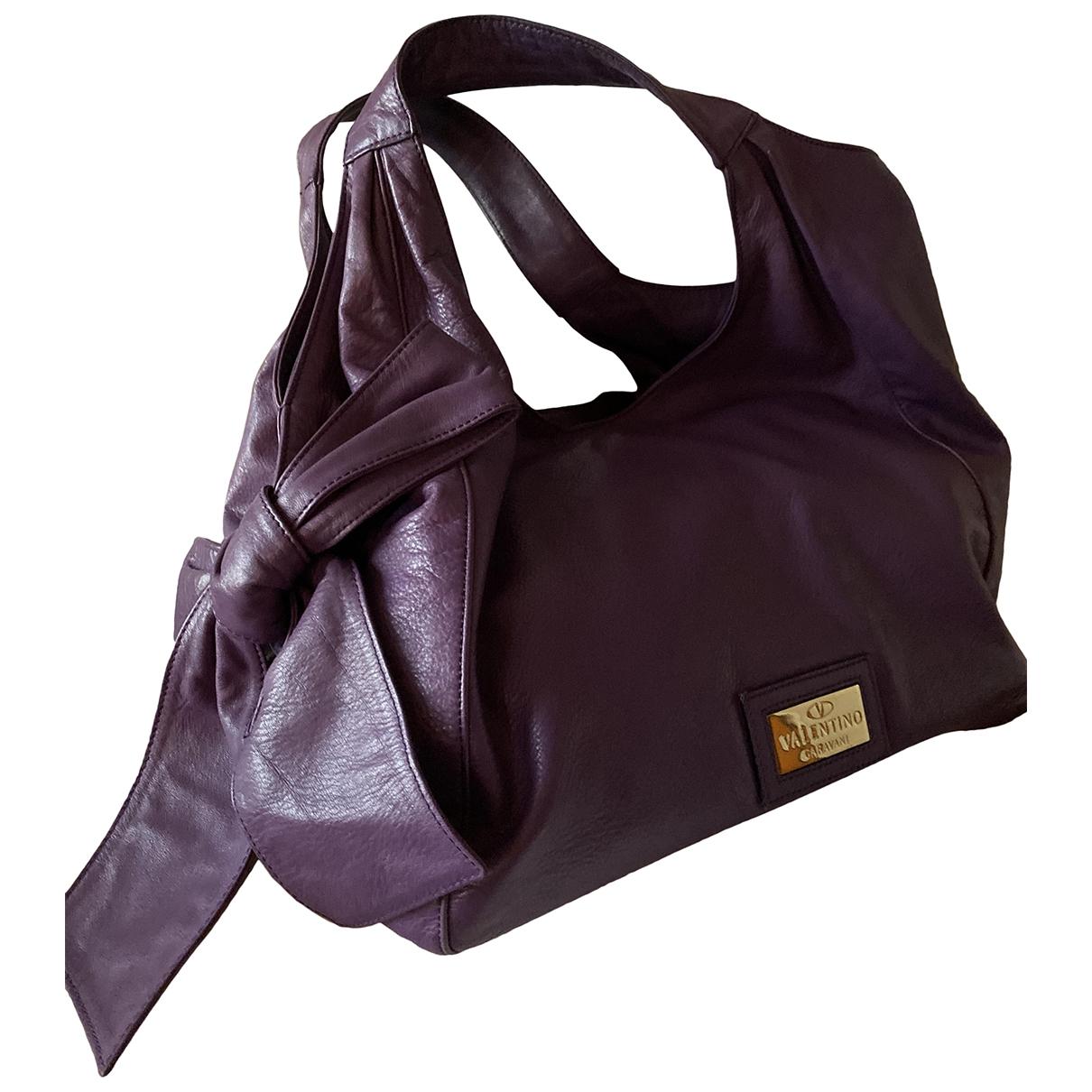 Valentino Garavani \N Purple Leather handbag for Women \N