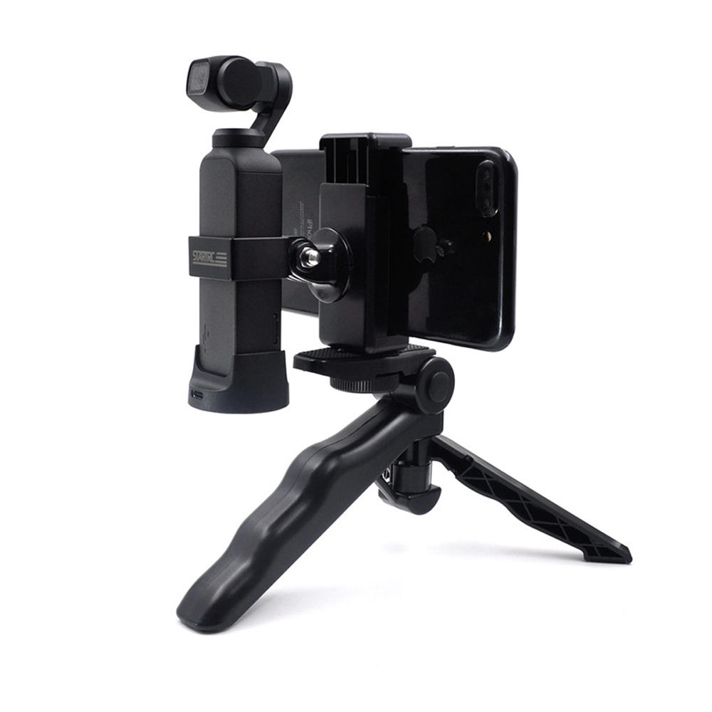 STARTRC ABS Phone Clip Holder With Tripod For DJI OSMO Pocket Handheld FPV Camera