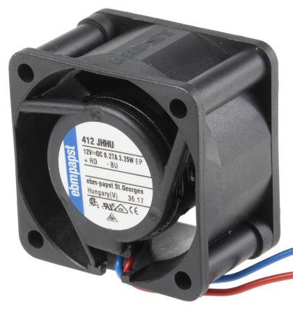 ebm-papst , 12 V dc, DC Axial Fan, 40 x 40 x 25mm, 24m³/h, 3.3W, IP54