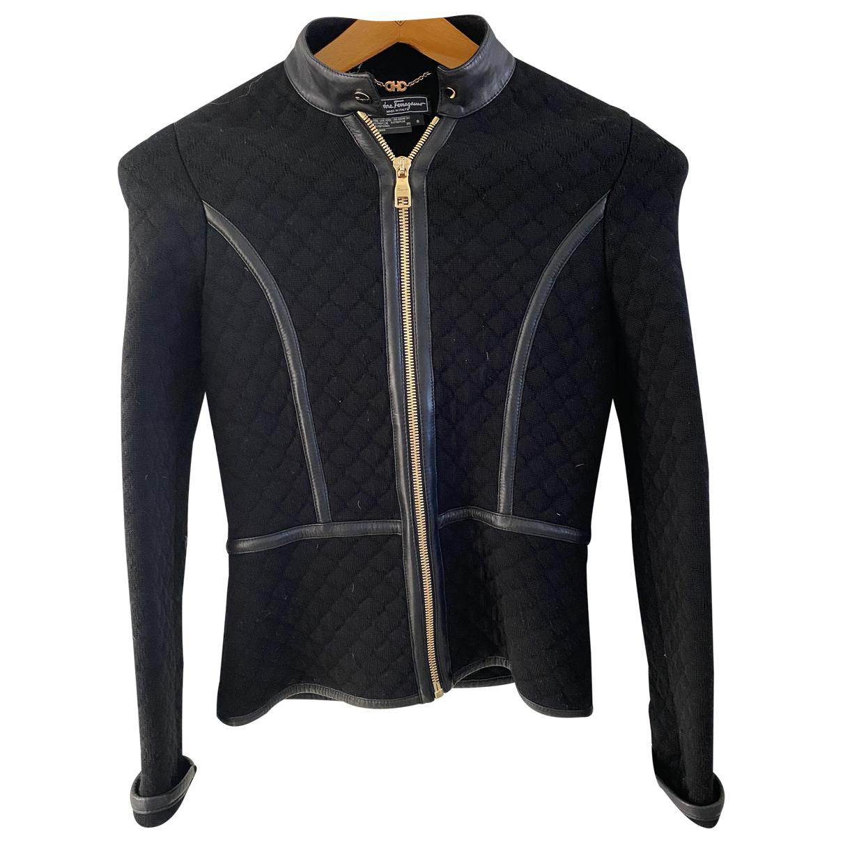 Salvatore Ferragamo - Veste   pour femme en laine - noir