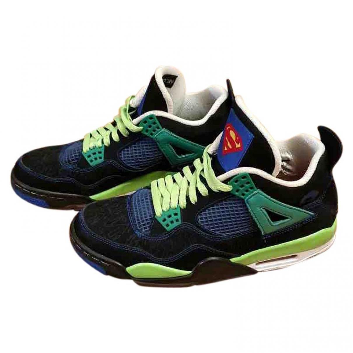 Jordan - Baskets Air Jordan 4 pour homme en toile - noir