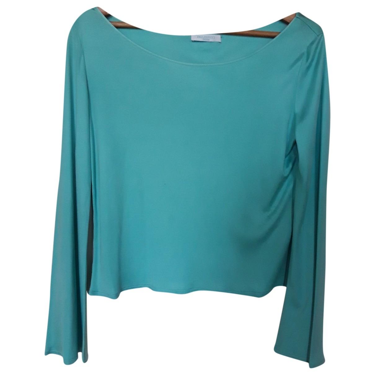 Emilio Pucci - Top   pour femme en soie - turquoise