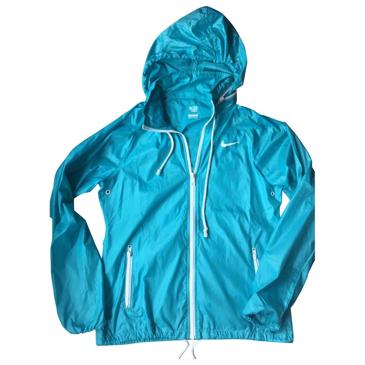 Nike \N Jacke in  Tuerkis Polyester