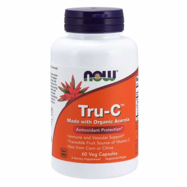 TruC Organic Acerola 60 Veg Caps by Now Foods