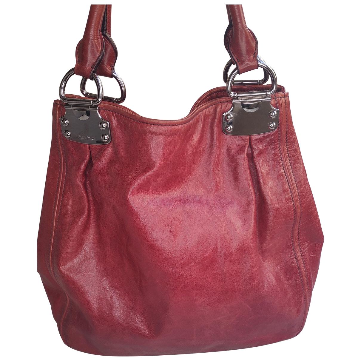 Miu Miu \N Red Leather handbag for Women \N
