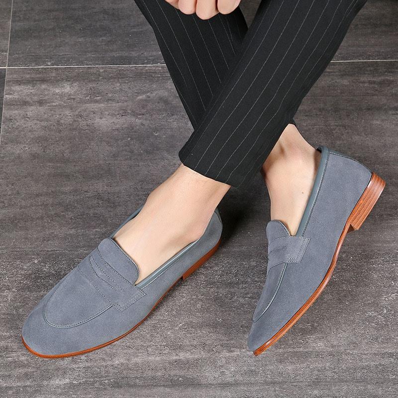 Ericdress Plain Low-Cut Upper Round Toe Slip-On Men's Loafers